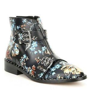 Gianni Bini Kenderix Floral Print Leather Booties